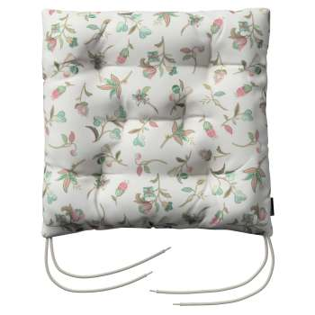 Jacek seat pad with ties 40 x 40 x 8 cm (16 x 16 x 3 inch) in collection Londres, fabric: 122-02