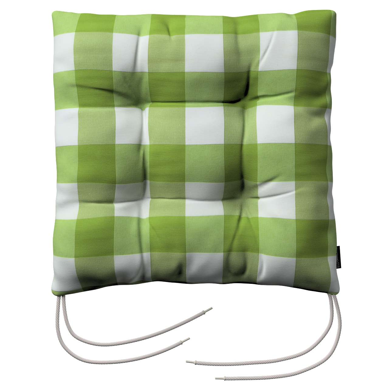 Jacek seat pad with ties 40 x 40 x 8 cm (16 x 16 x 3 inch) in collection Quadro, fabric: 136-36
