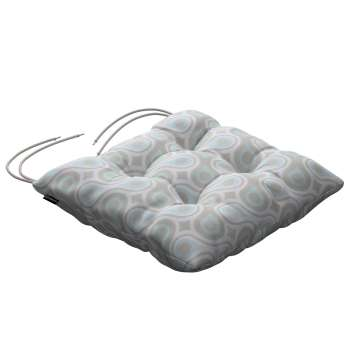 Jacek seat pad with ties 40 x 40 x 8 cm (16 x 16 x 3 inch) in collection Flowers, fabric: 311-13