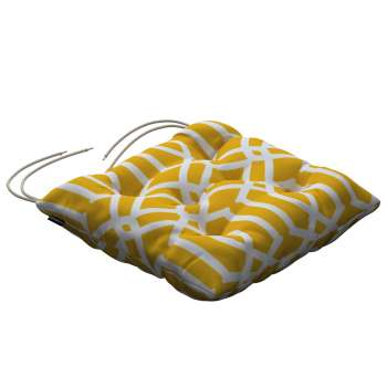 Jacek seat pad with ties 40 × 40 × 8 cm (16 × 16 × 3 inch) in collection Comics/Geometrical, fabric: 135-09