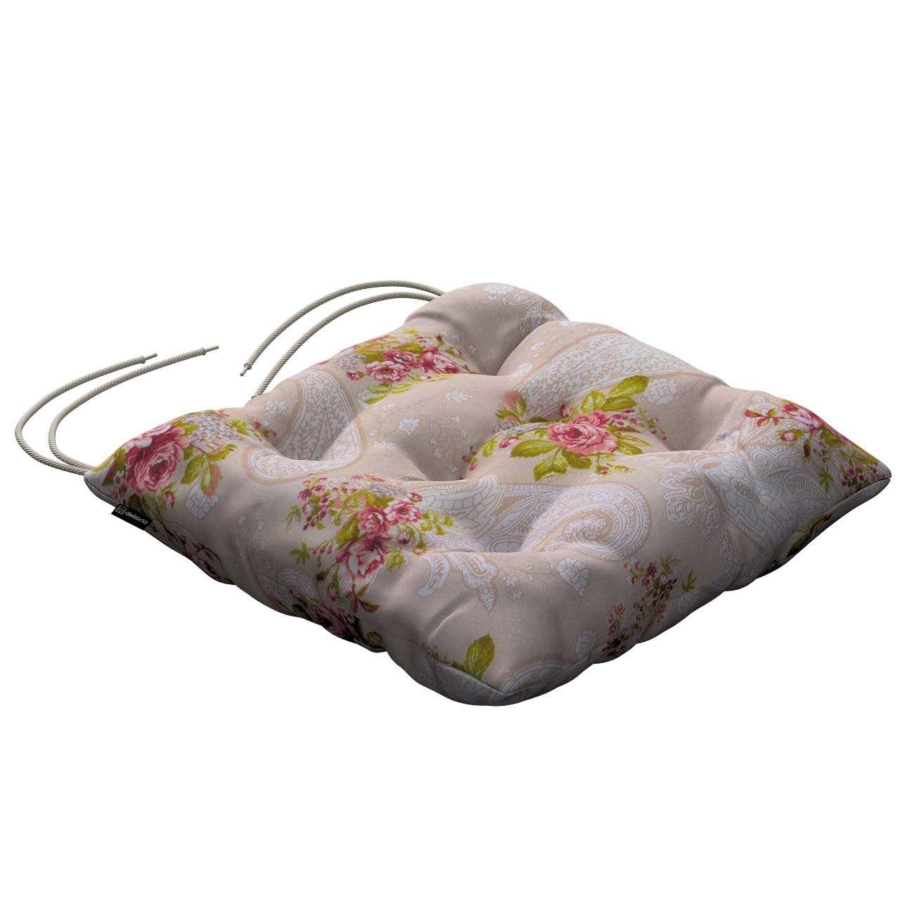Siedzisko Jacek na krzesło w kolekcji Flowers, tkanina: 311-15