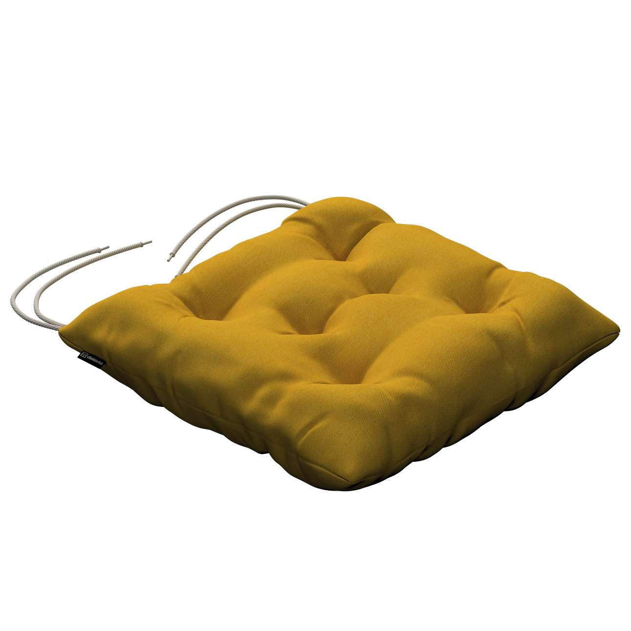 Jacek seat pad with ties 40 x 40 x 8 cm (16 x 16 x 3 inch) in collection Etna, fabric: 705-04