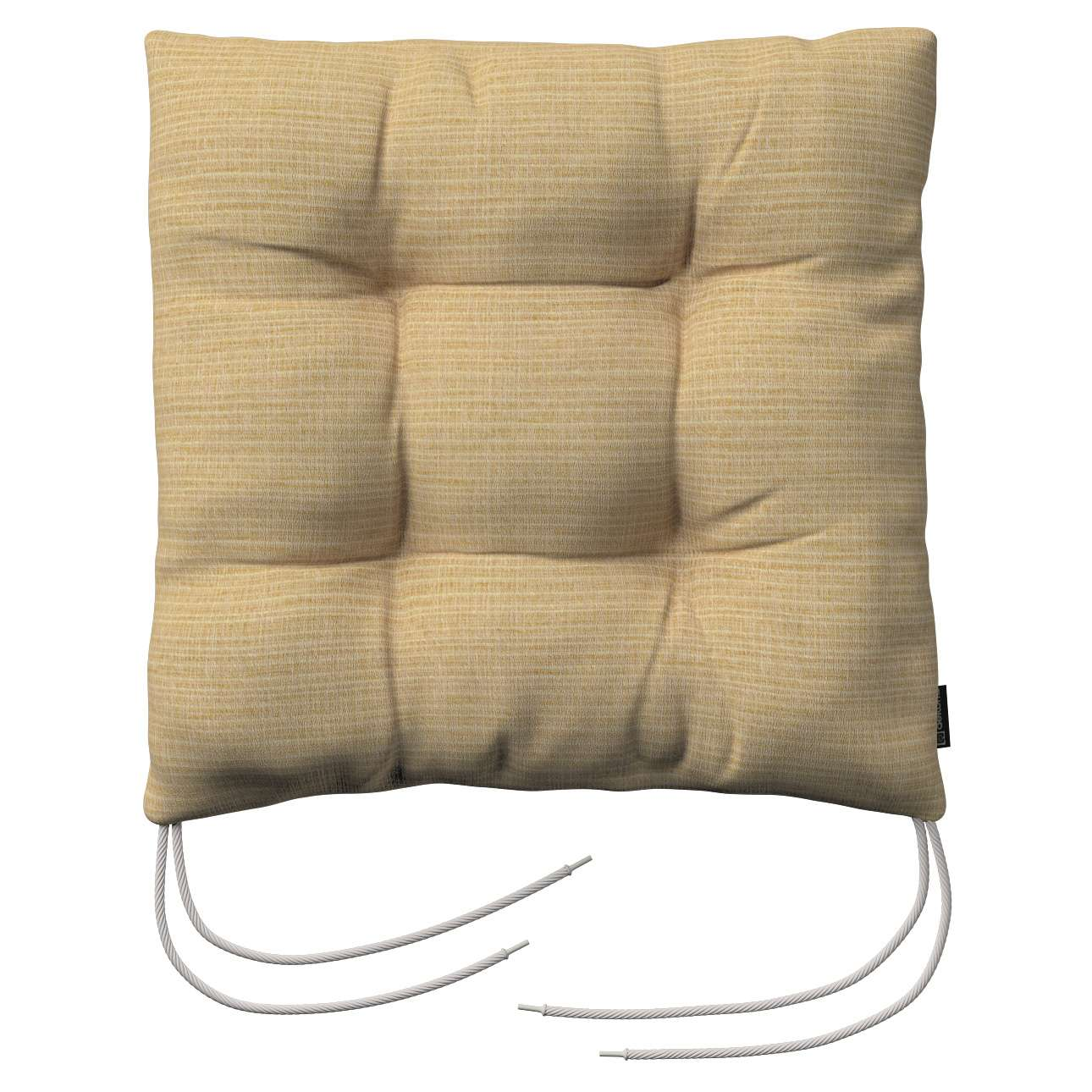 Jacek seat pad with ties 40 x 40 x 8 cm (16 x 16 x 3 inch) in collection Living, fabric: 101-14