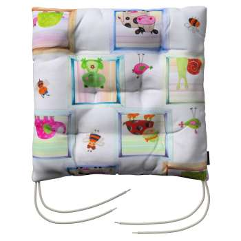 Jacek seat pad with ties 40 × 40 × 8 cm (16 × 16 × 3 inch) in collection Apanona, fabric: 151-04