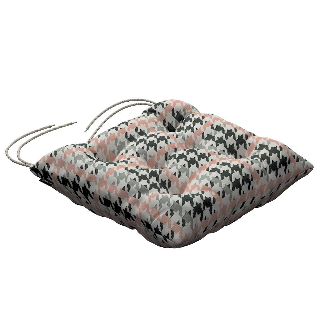 Jacek seat pad with ties 40 x 40 x 8 cm (16 x 16 x 3 inch) in collection Brooklyn, fabric: 137-75