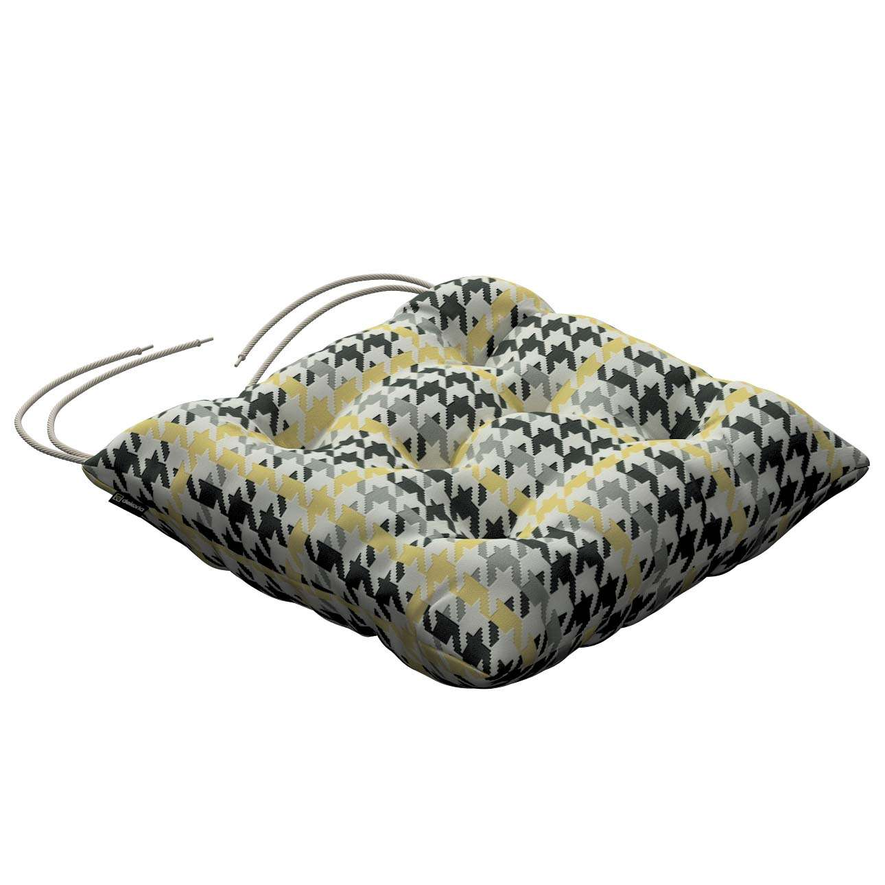 Jack seat pad with ties 40 × 40 × 8 cm (16 × 16 × 3 inch) in collection Brooklyn, fabric: 137-79