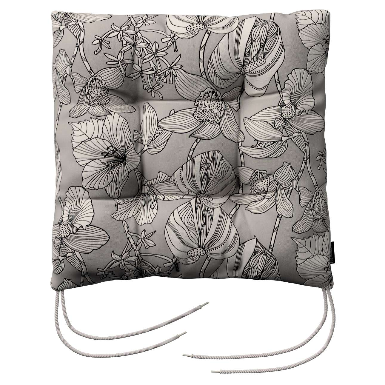 Jacek seat pad with ties 40 x 40 x 8 cm (16 x 16 x 3 inch) in collection Brooklyn, fabric: 137-80