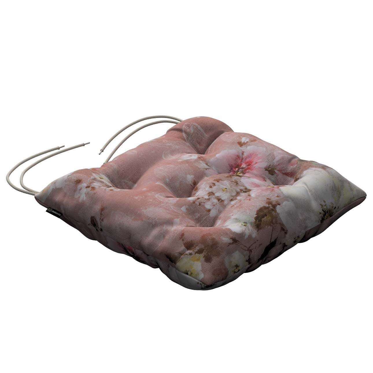 Jack seat pad with ties 40 × 40 × 8 cm (16 × 16 × 3 inch) in collection Monet, fabric: 137-83
