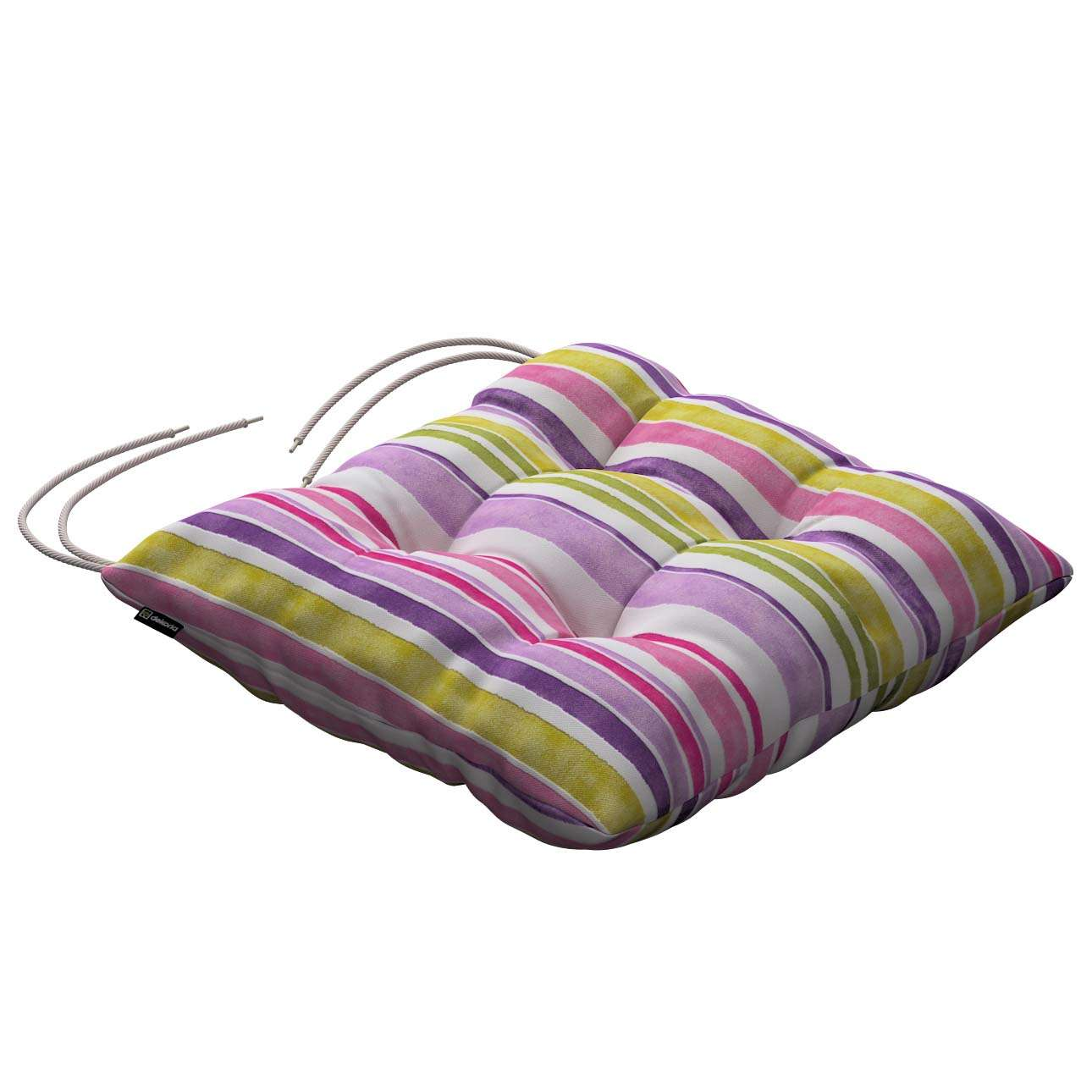 Jack seat pad with ties 40 × 40 × 8 cm (16 × 16 × 3 inch) in collection Monet, fabric: 140-01