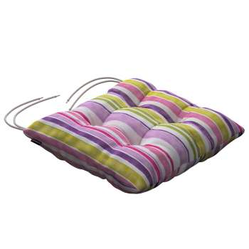 Jacek seat pad with ties 40 x 40 x 8 cm (16 x 16 x 3 inch) in collection Monet, fabric: 140-01