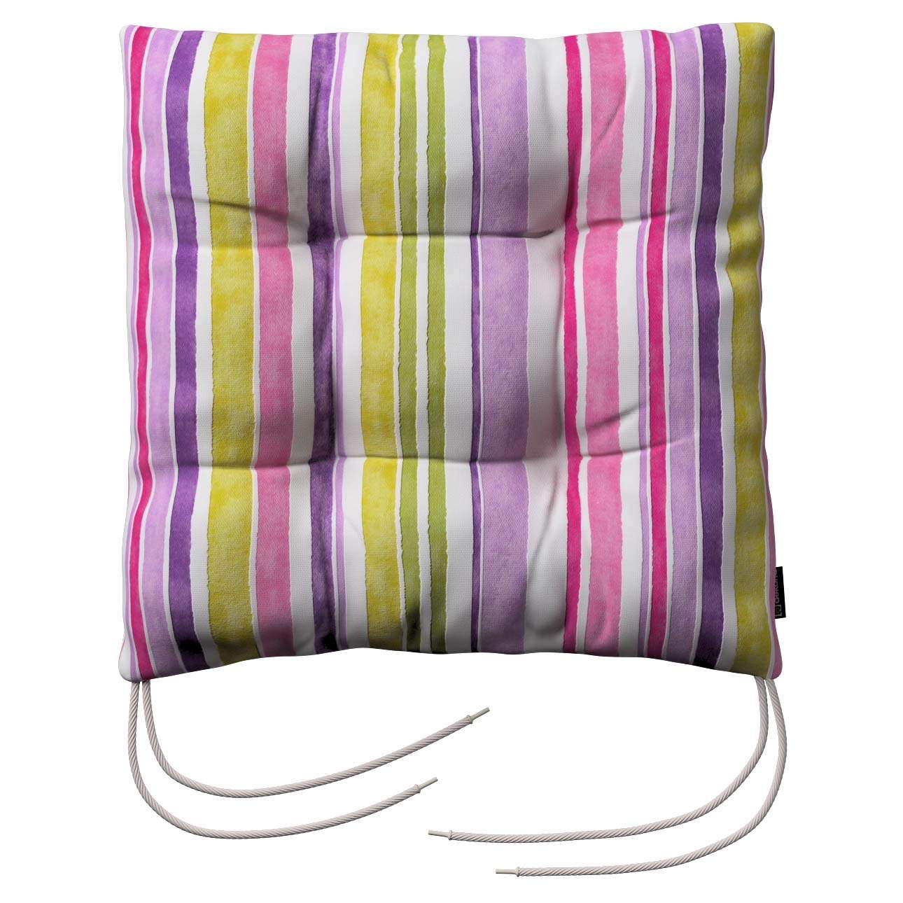 Jack seat pad with ties in collection Monet, fabric: 140-01