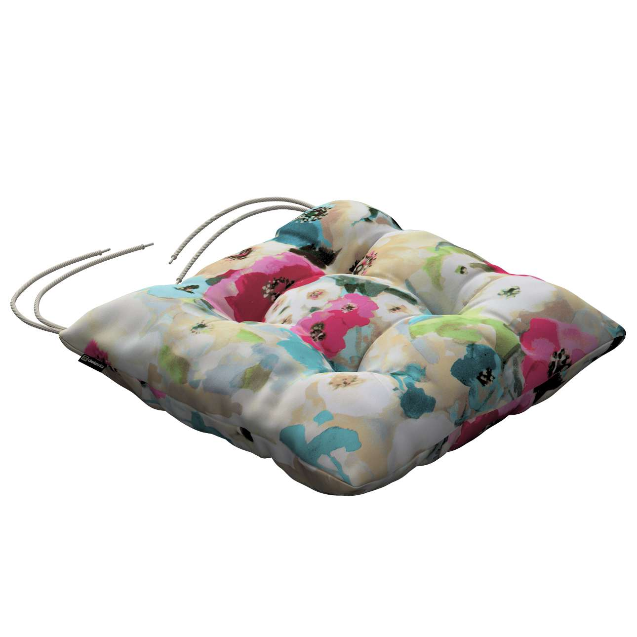 Jack seat pad with ties in collection Monet, fabric: 140-08