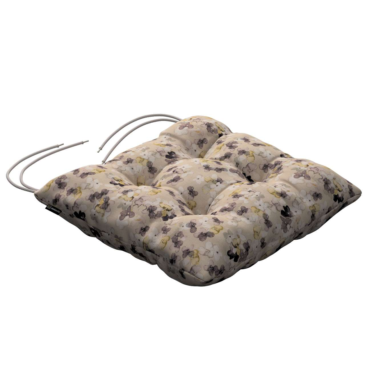 Jack seat pad with ties 40 × 40 × 8 cm (16 × 16 × 3 inch) in collection Londres, fabric: 140-48