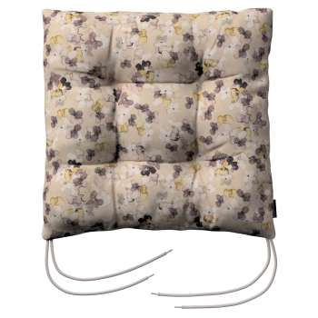 Jacek seat pad with ties 40 x 40 x 8 cm (16 x 16 x 3 inch) in collection Londres, fabric: 140-48