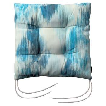 Jack seat pad with ties in collection Aquarelle, fabric: 140-71