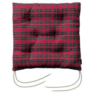 Jacek seat pad with ties 40 x 40 x 8 cm (16 x 16 x 3 inch) in collection Bristol, fabric: 126-29