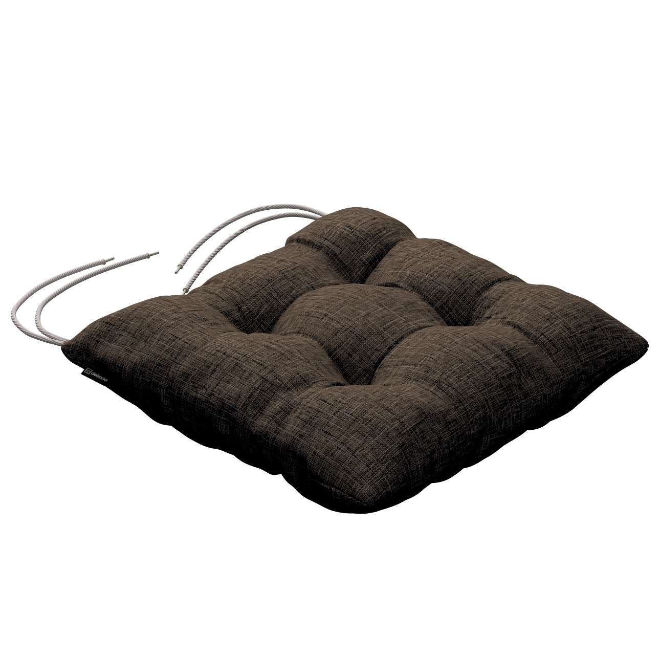 Jacek seat pad with ties 40 x 40 x 8 cm (16 x 16 x 3 inch) in collection Living, fabric: 106-92