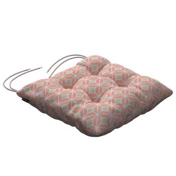 Jack seat pad with ties in collection Geometric, fabric: 141-48