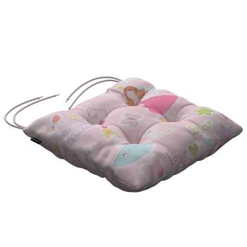 Jacek seat pad with ties 40 × 40 × 8 cm (16 × 16 × 3 inch) in collection Little World, fabric: 141-50