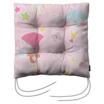 Jacek seat pad with ties 40 x 40 x 8 cm (16 x 16 x 3 inch) in collection Little World, fabric: 141-50