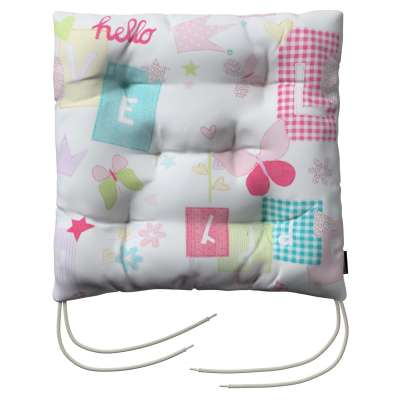 Jack seat pad with ties 141-51 pastel pattern of white background Collection Little World