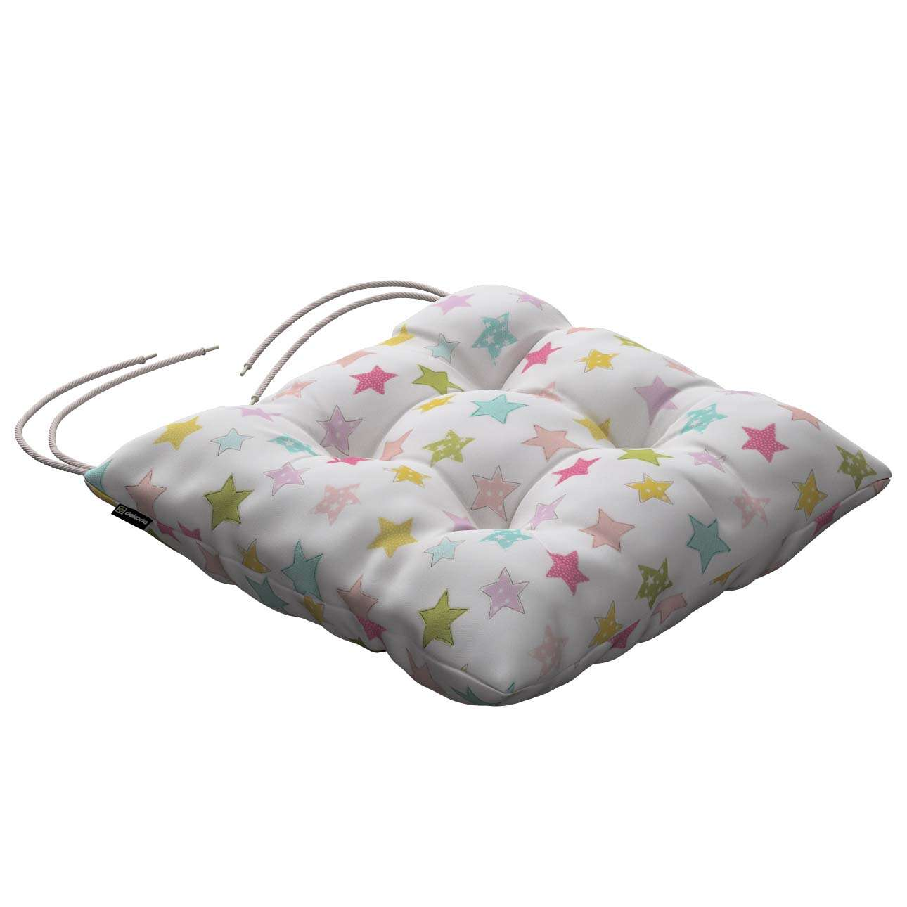 Jack seat pad with ties 40 × 40 × 8 cm (16 × 16 × 3 inch) in collection Little World, fabric: 141-52