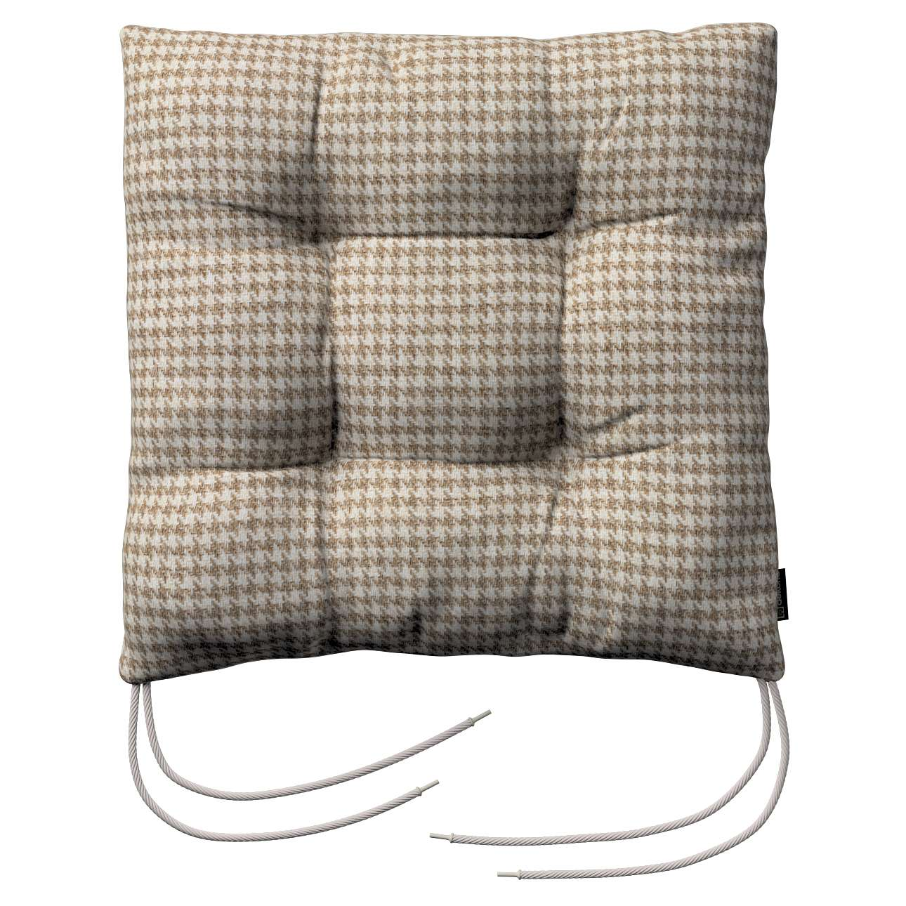Jacek seat pad with ties 40 × 40 × 8 cm (16 × 16 × 3 inch) in collection Edinburgh, fabric: 703-12