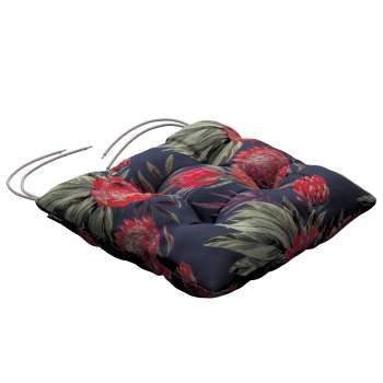Jacek seat pad with ties 40 x 40 x 8 cm (16 x 16 x 3 inch) in collection New Art, fabric: 141-57