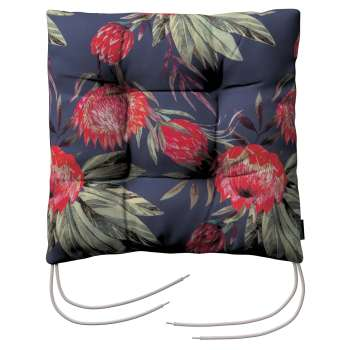 Jack seat pad with ties in collection New Art, fabric: 141-57