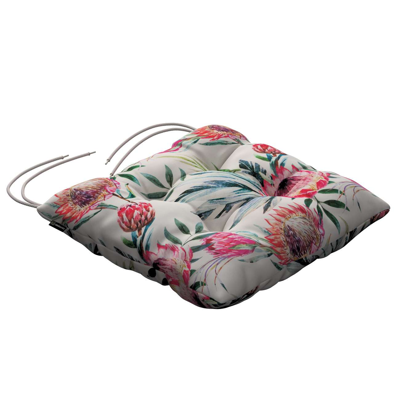 Jack seat pad with ties in collection New Art, fabric: 141-59