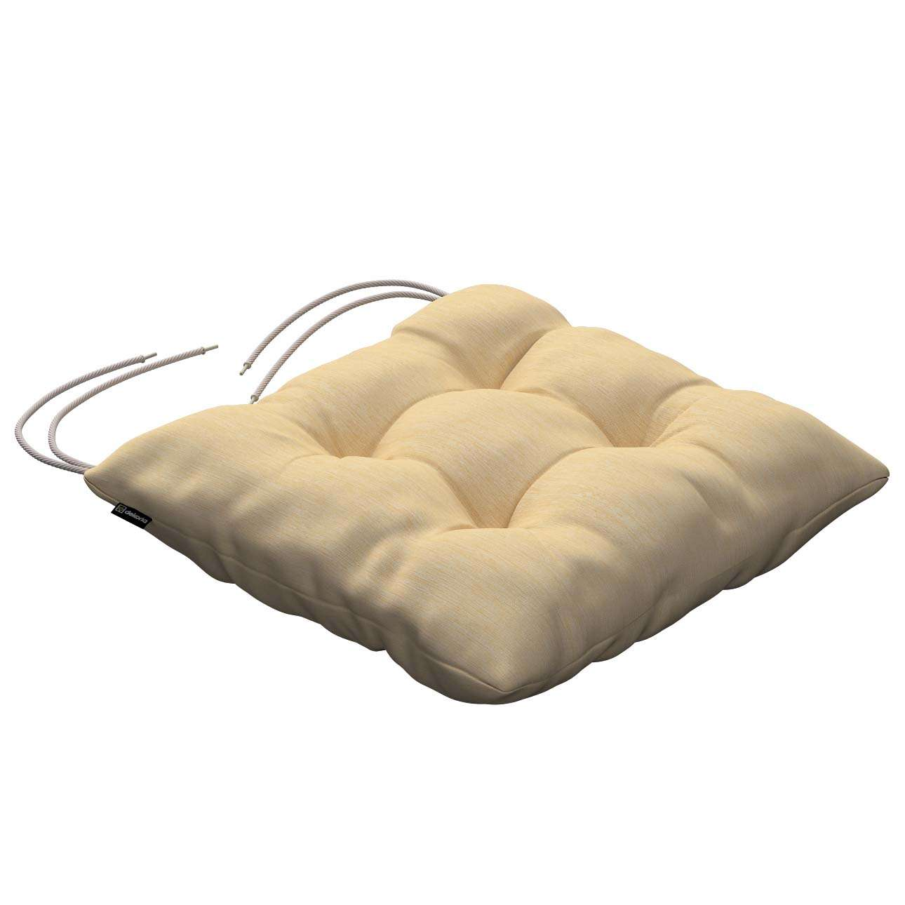 Jack seat pad with ties 40 × 40 × 8 cm (16 × 16 × 3 inch) in collection Madrid, fabric: 160-49