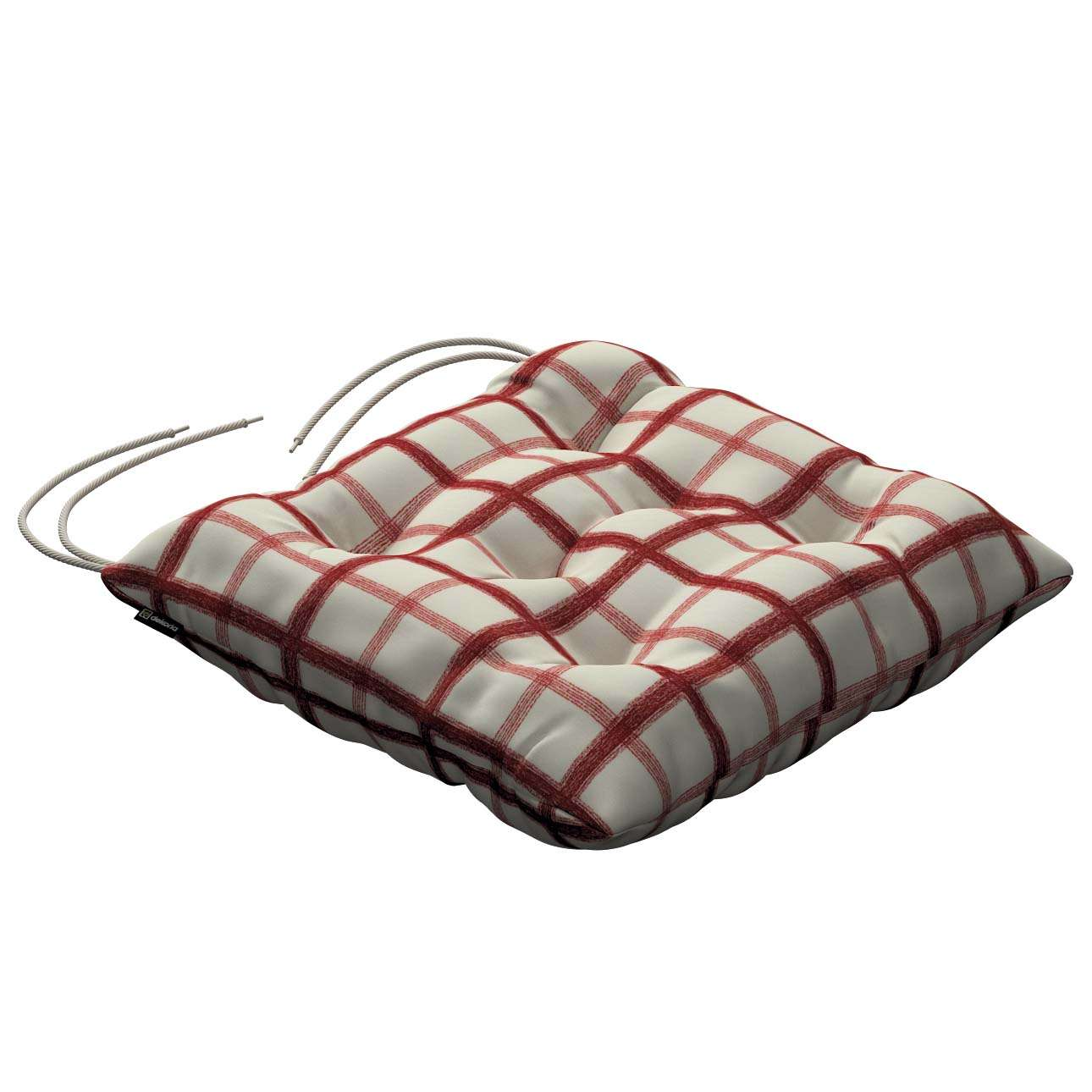 Jack seat pad with ties 40 × 40 × 8 cm (16 × 16 × 3 inch) in collection Avinon, fabric: 131-15