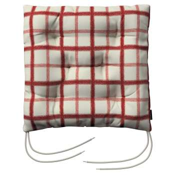 Jacek seat pad with ties 40 x 40 x 8 cm (16 x 16 x 3 inch) in collection Avinon, fabric: 131-15