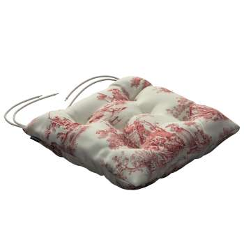Jacek seat pad with ties 40 x 40 x 8 cm (16 x 16 x 3 inch) in collection Avinon, fabric: 132-15