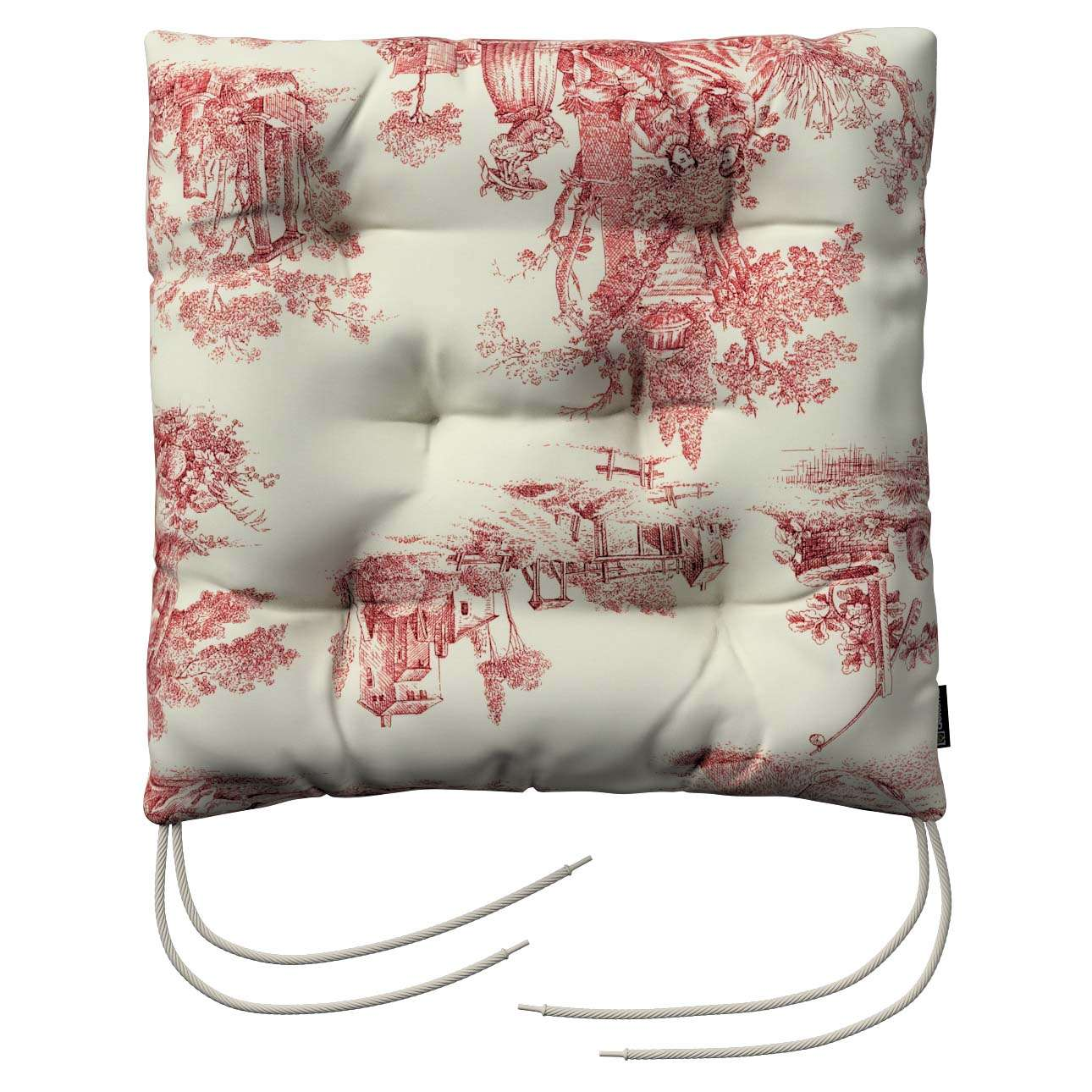 Jack seat pad with ties in collection Avinon, fabric: 132-15