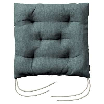 Jack seat pad with ties 704-85 gray blue chenille Collection City