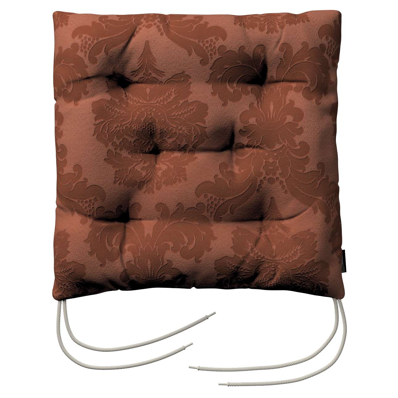 Siedzisko Jacek na krzesło 38x38x8cm w kolekcji Damasco, tkanina: 613-88