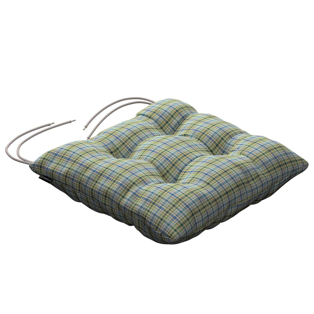 Jacek seat pad with ties 40 × 40 × 8 cm (16 × 16 × 3 inch) in collection Bristol, fabric: 126-69