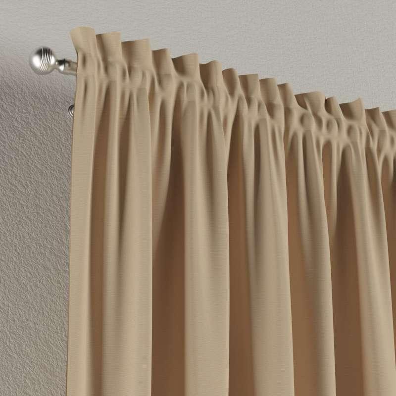 Zasłona na kanale z grzywką 1 szt. w kolekcji Cotton Panama, tkanina: 702-01