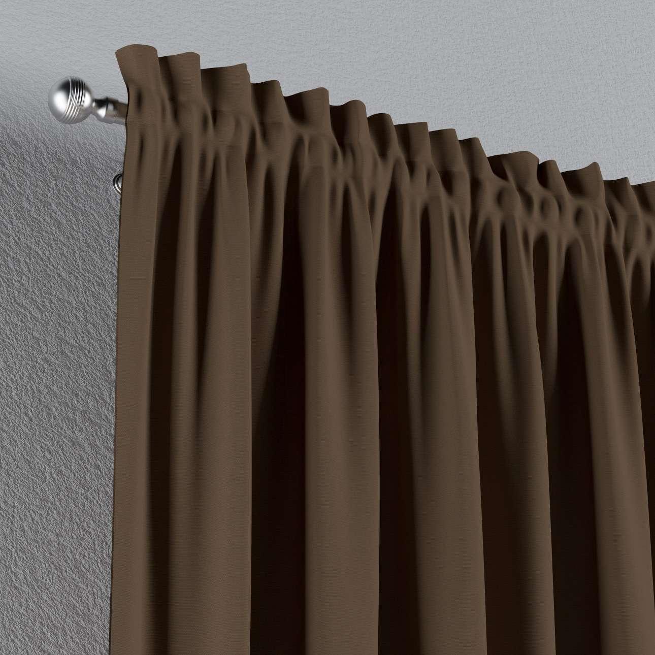 Vorhang mit Tunnel und Köpfchen von der Kollektion Cotton Panama, Stoff: 702-02