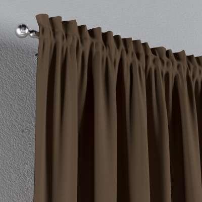 Zasłona na kanale z grzywką 1 szt. w kolekcji Cotton Panama, tkanina: 702-02