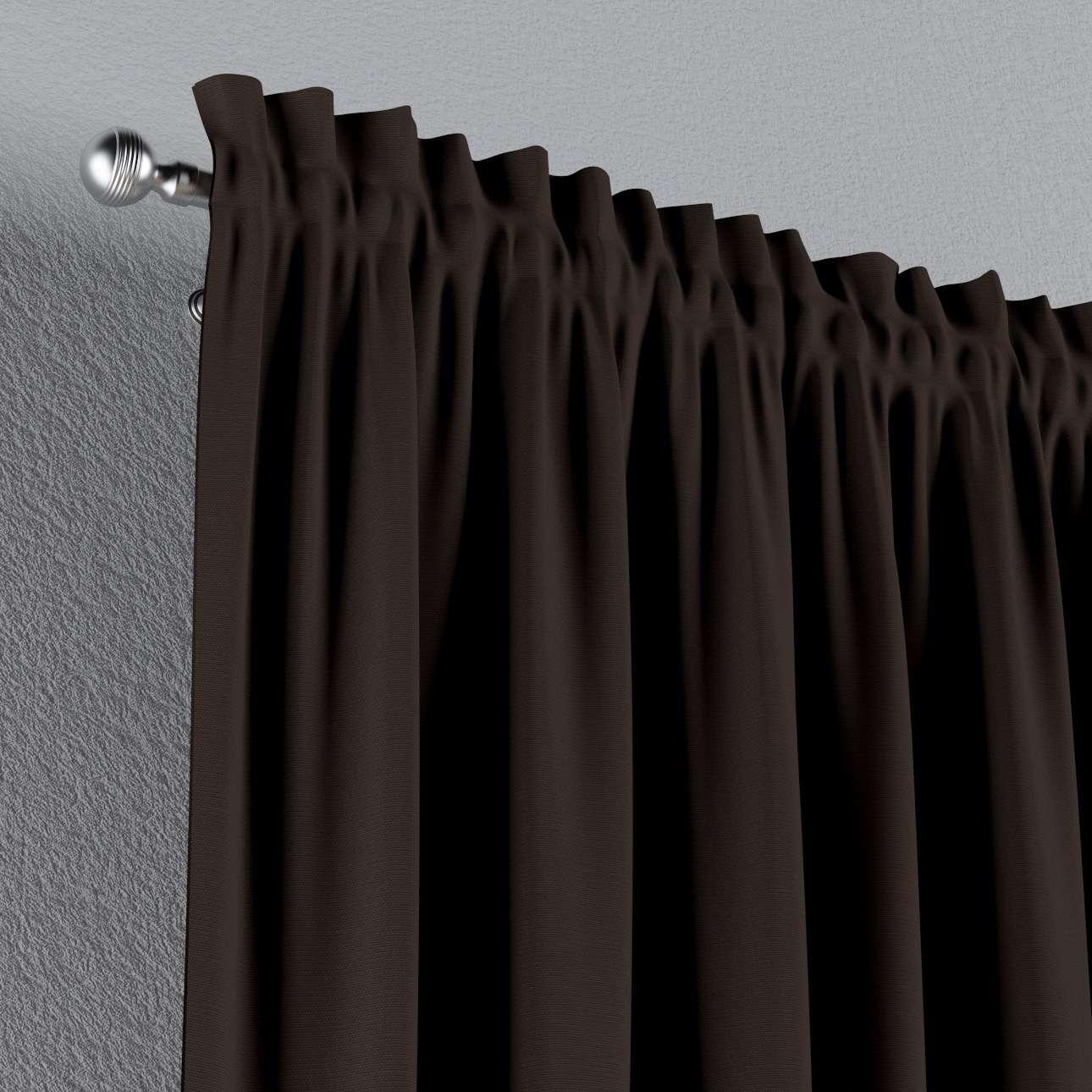 Vorhang mit Tunnel und Köpfchen von der Kollektion Cotton Panama, Stoff: 702-03