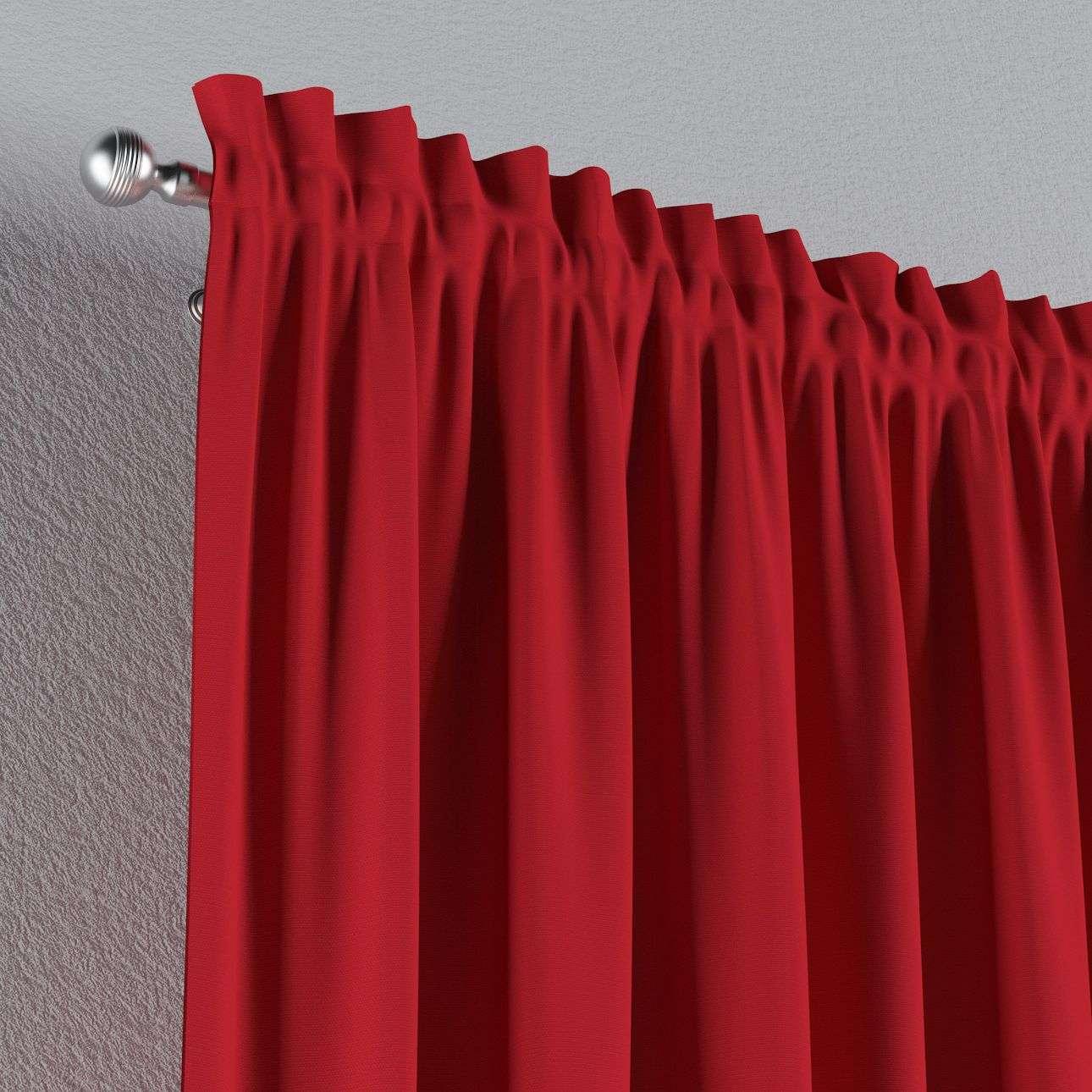 Zasłona na kanale z grzywką 1 szt. 1szt 130x260 cm w kolekcji Cotton Panama, tkanina: 702-04