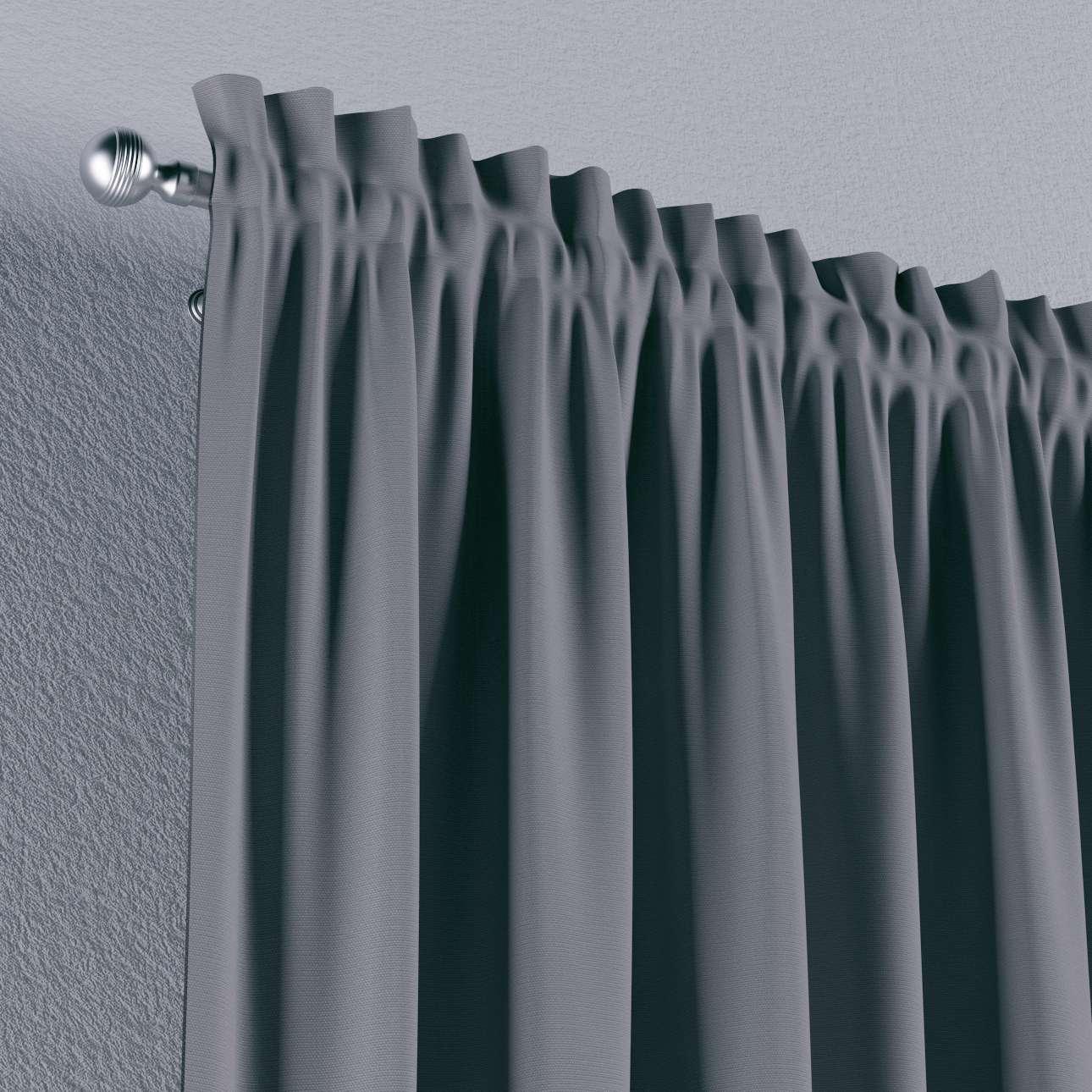 Zasłona na kanale z grzywką 1 szt. 1szt 130x260 cm w kolekcji Cotton Panama, tkanina: 702-07