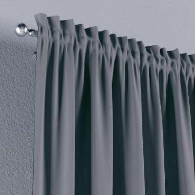 Vorhang mit Tunnel und Köpfchen von der Kollektion Cotton Panama, Stoff: 702-07