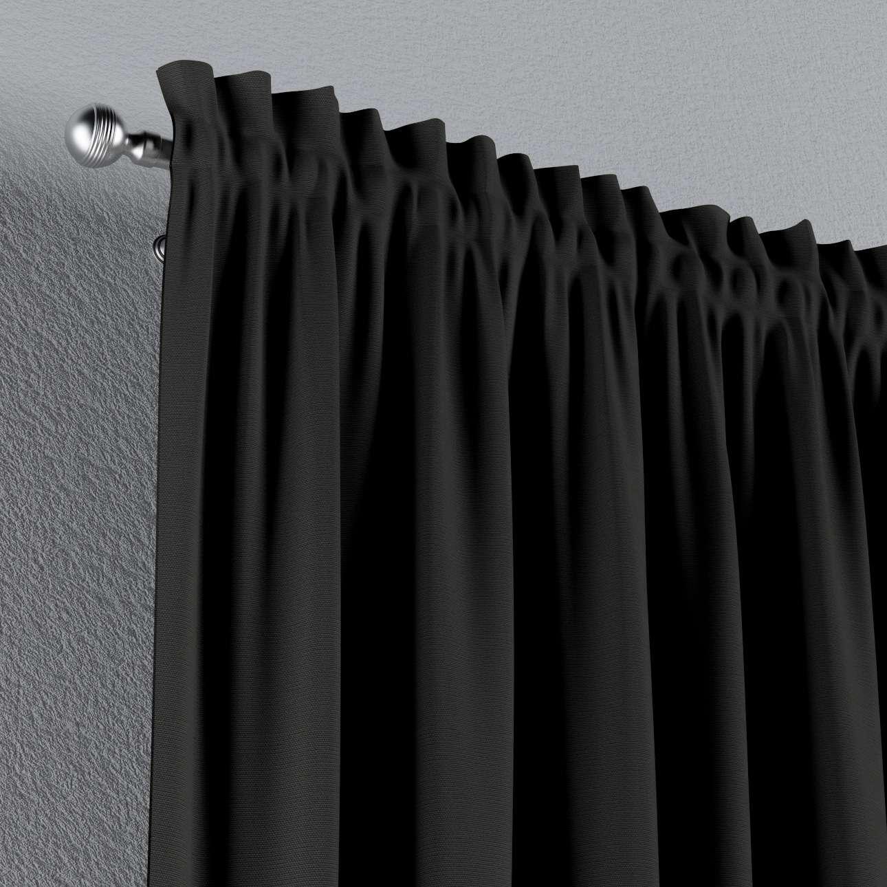 Zasłona na kanale z grzywką 1 szt. 1szt 130x260 cm w kolekcji Cotton Panama, tkanina: 702-08