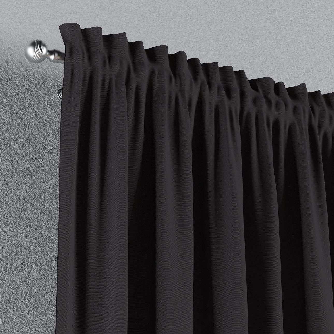Zasłona na kanale z grzywką 1 szt. 1szt 130x260 cm w kolekcji Cotton Panama, tkanina: 702-09