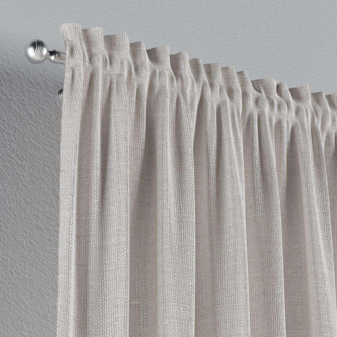 Zasłona na kanale z grzywką 1 szt. 1szt 130x260 cm w kolekcji Linen, tkanina: 392-04