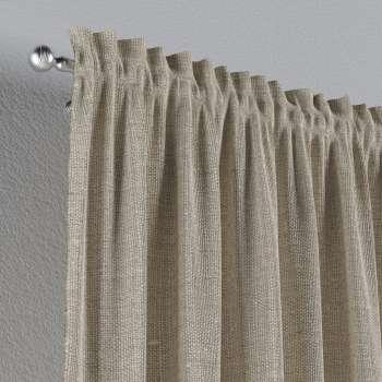 Zasłona na kanale z grzywką 1 szt. 1szt 130x260 cm w kolekcji Linen, tkanina: 392-05