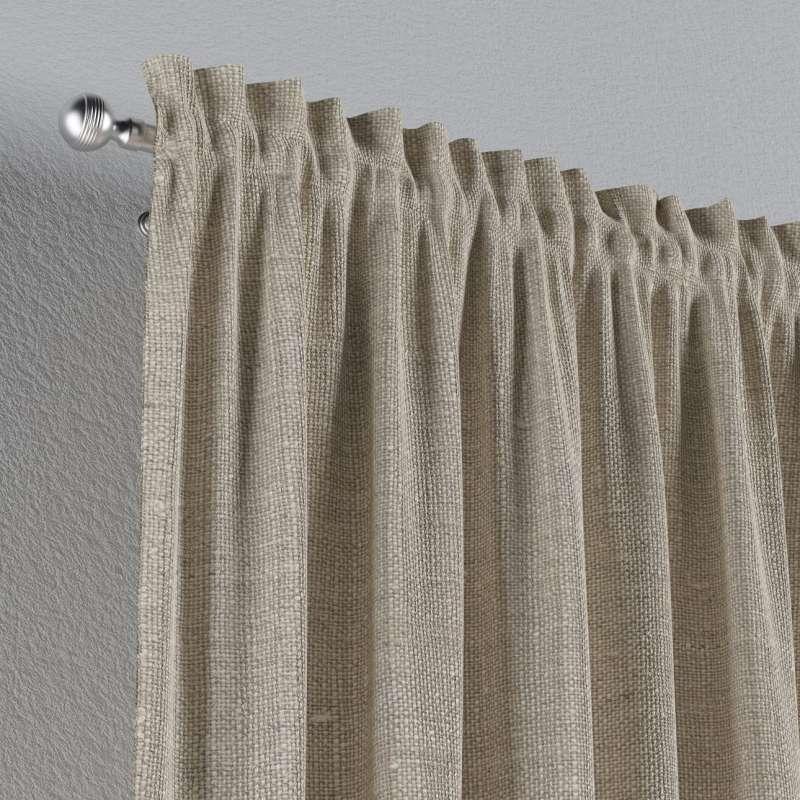 Zasłona na kanale z grzywką 1 szt. w kolekcji Linen, tkanina: 392-05